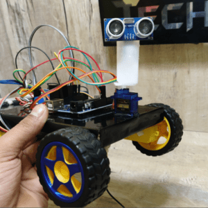 Obstacle Avoiding Robot Rotating Neck