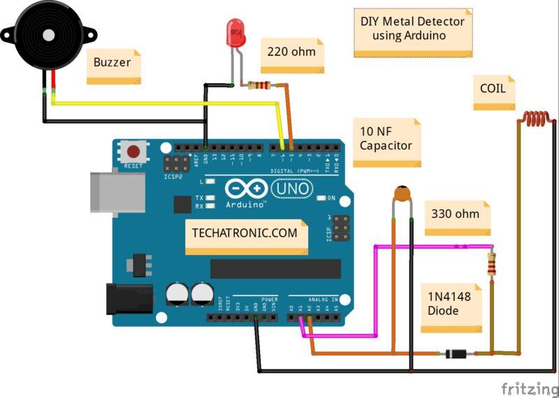 Circuit Diagram DIY metal detector