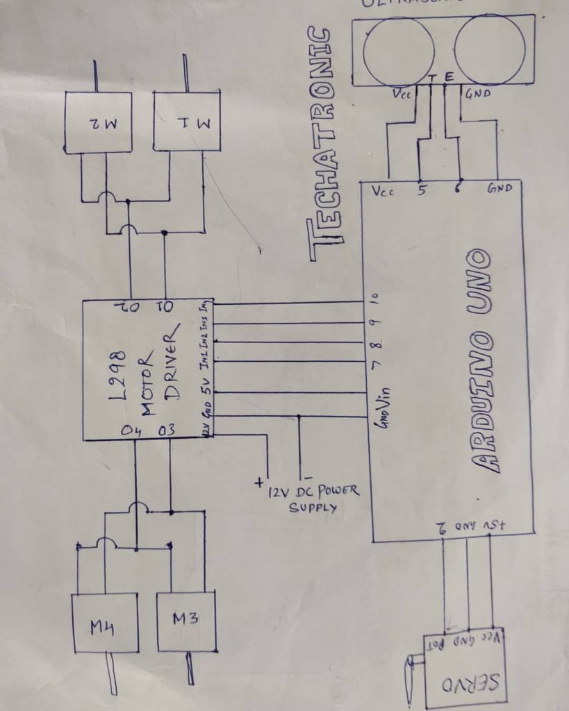 obstacle avoiding robot circuit diagram