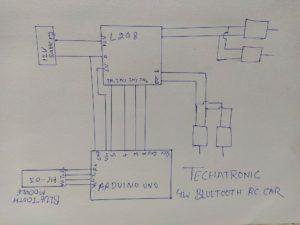 arduino bluetooth rc car circuit diagram