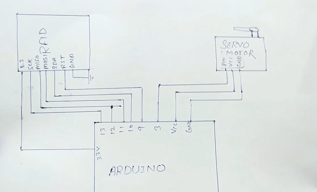 Rfid arduino circuit diagram