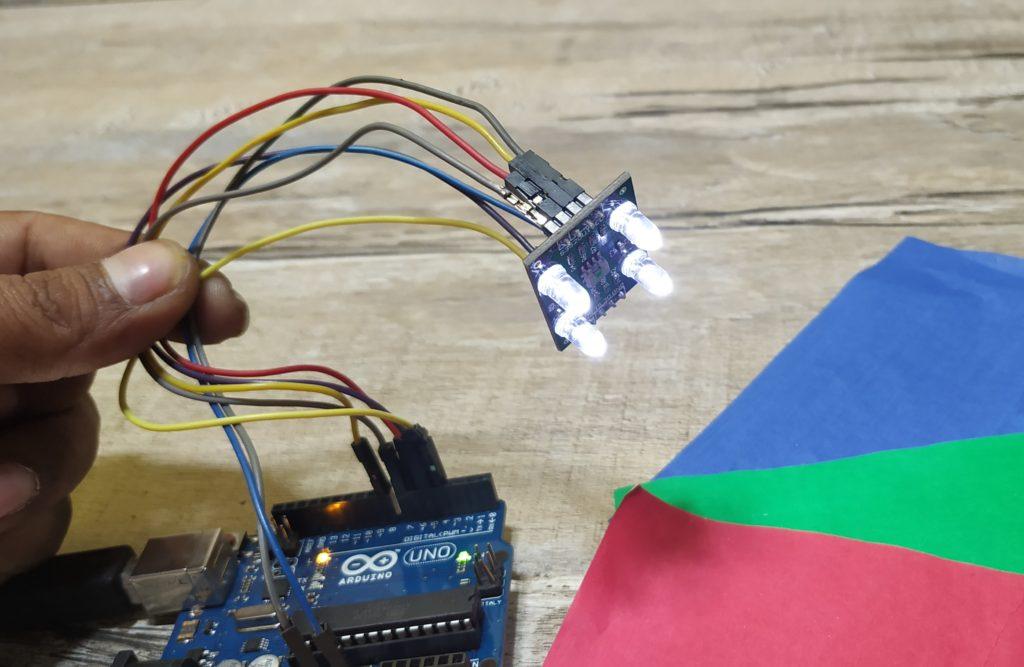tcs3200 colour sensor with arduino