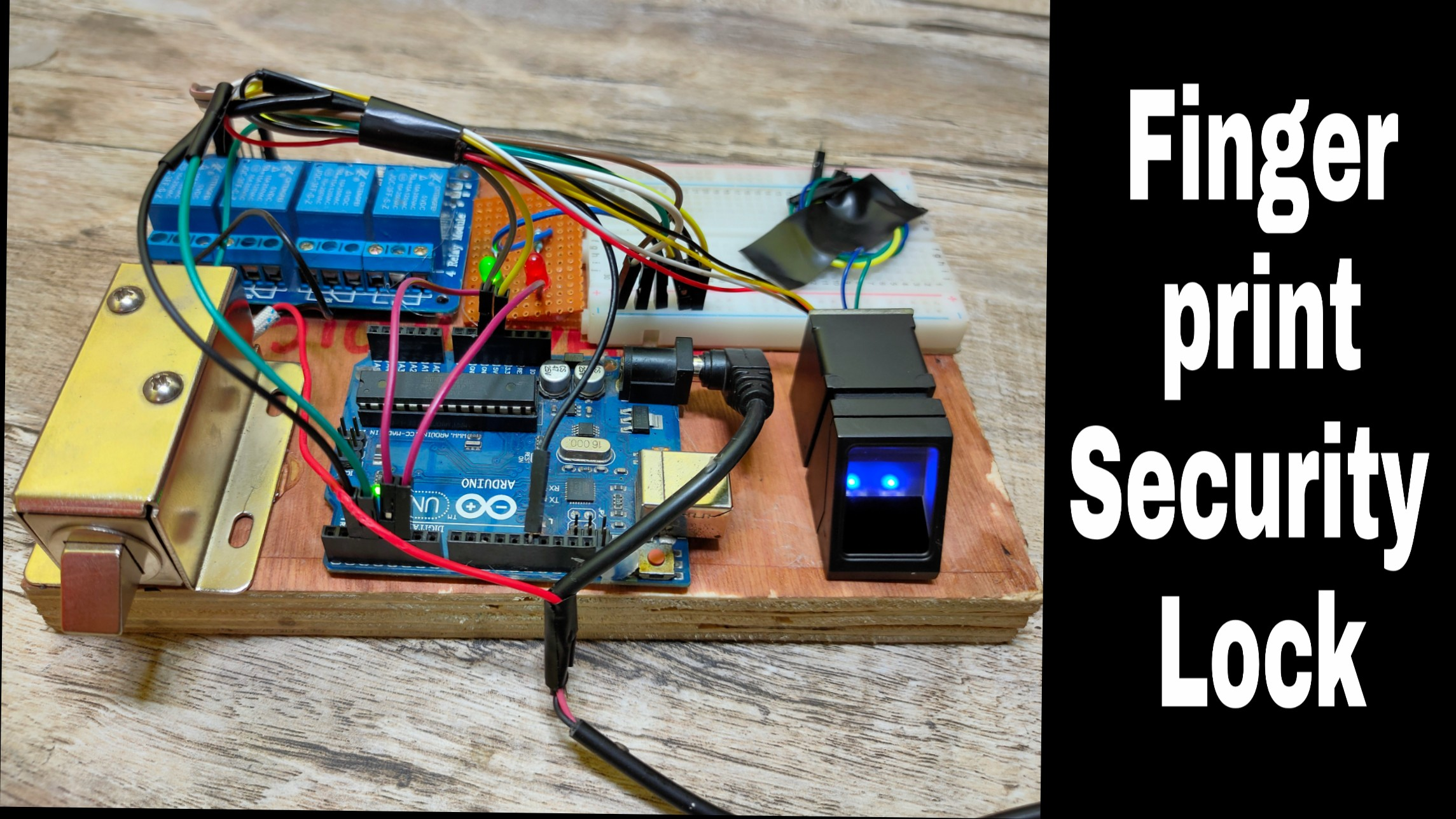 Fingerprint Arduino Security Lock DIY