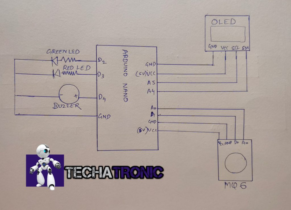 lpg gas leakage detector using arduino circuit diagram