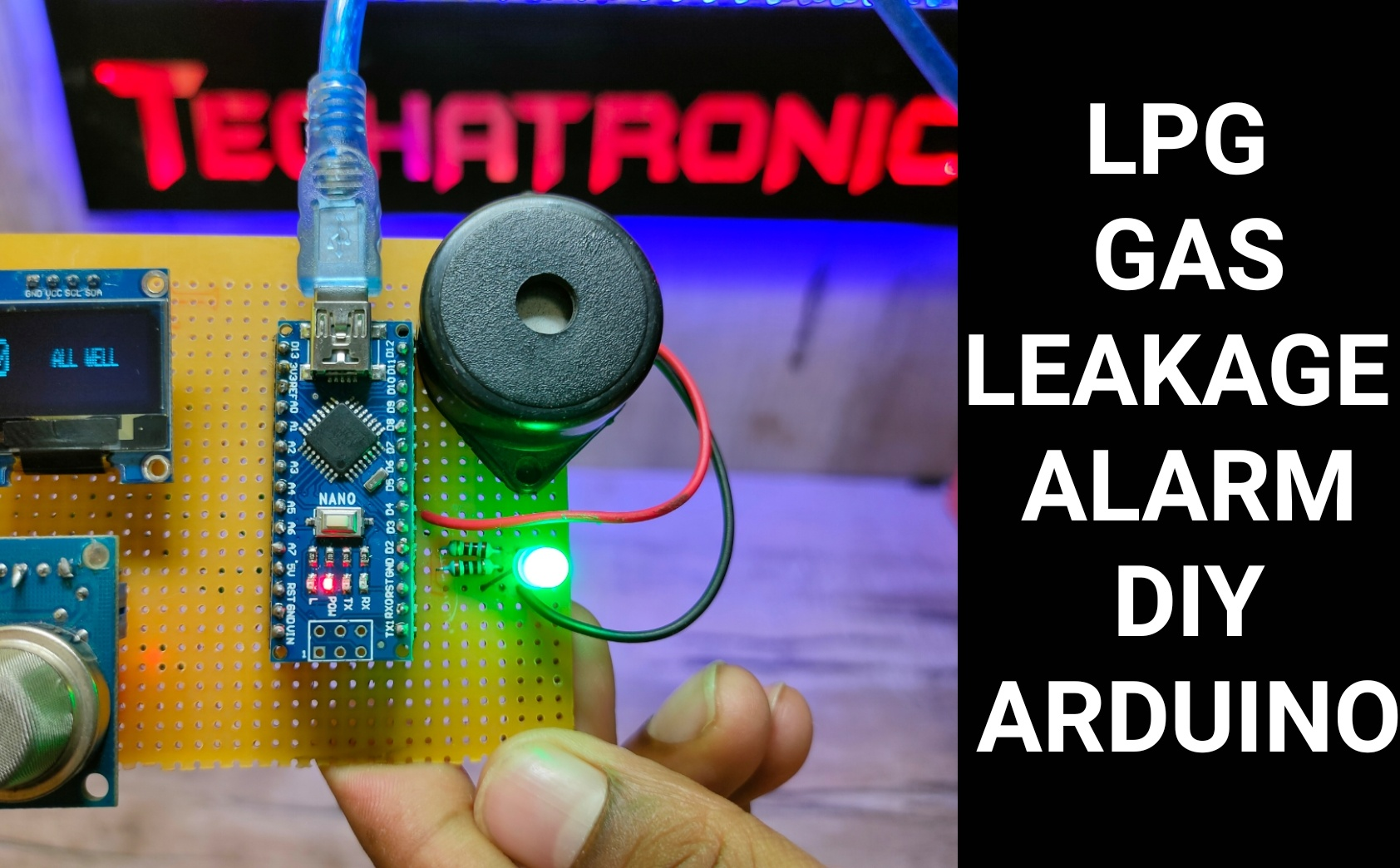 Gas leakage detector using Arduino- LPG Alarm