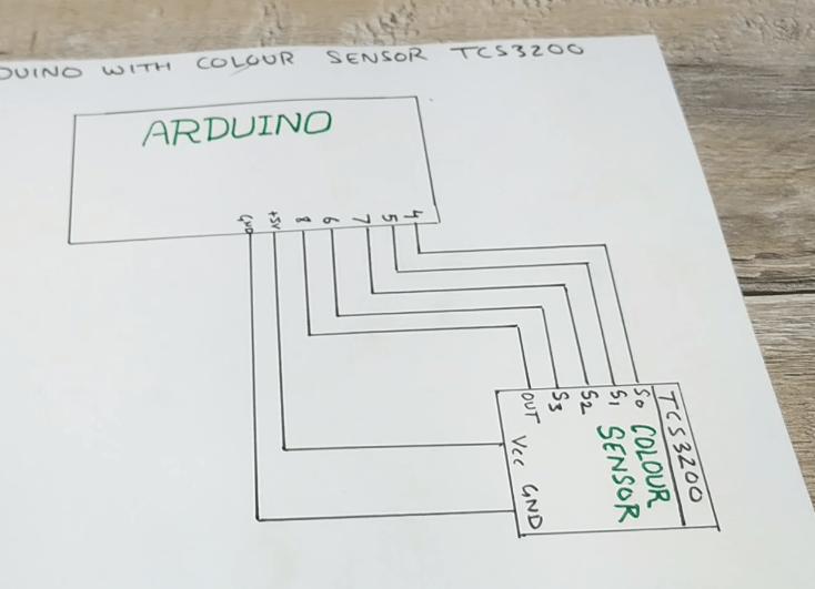 tcs3200 circuit diagram with arduino