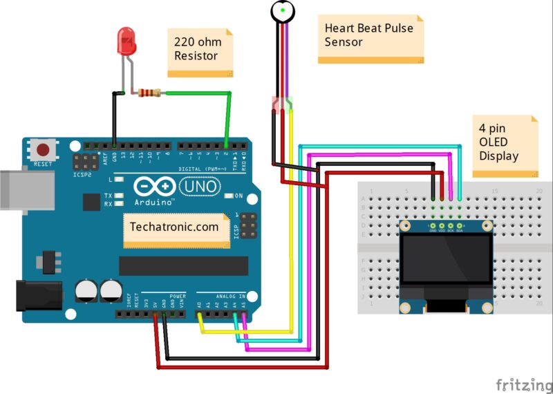 How to make Heart Rate Monitor circuit