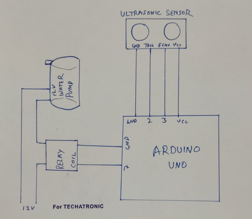 automatic hand sanitizer circuit diagram
