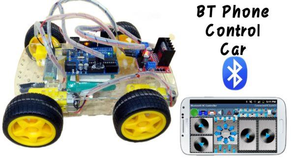 BT Phone control car