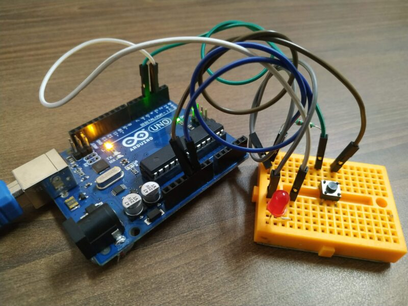 Push button interfacing with Arduino Tutorial #5