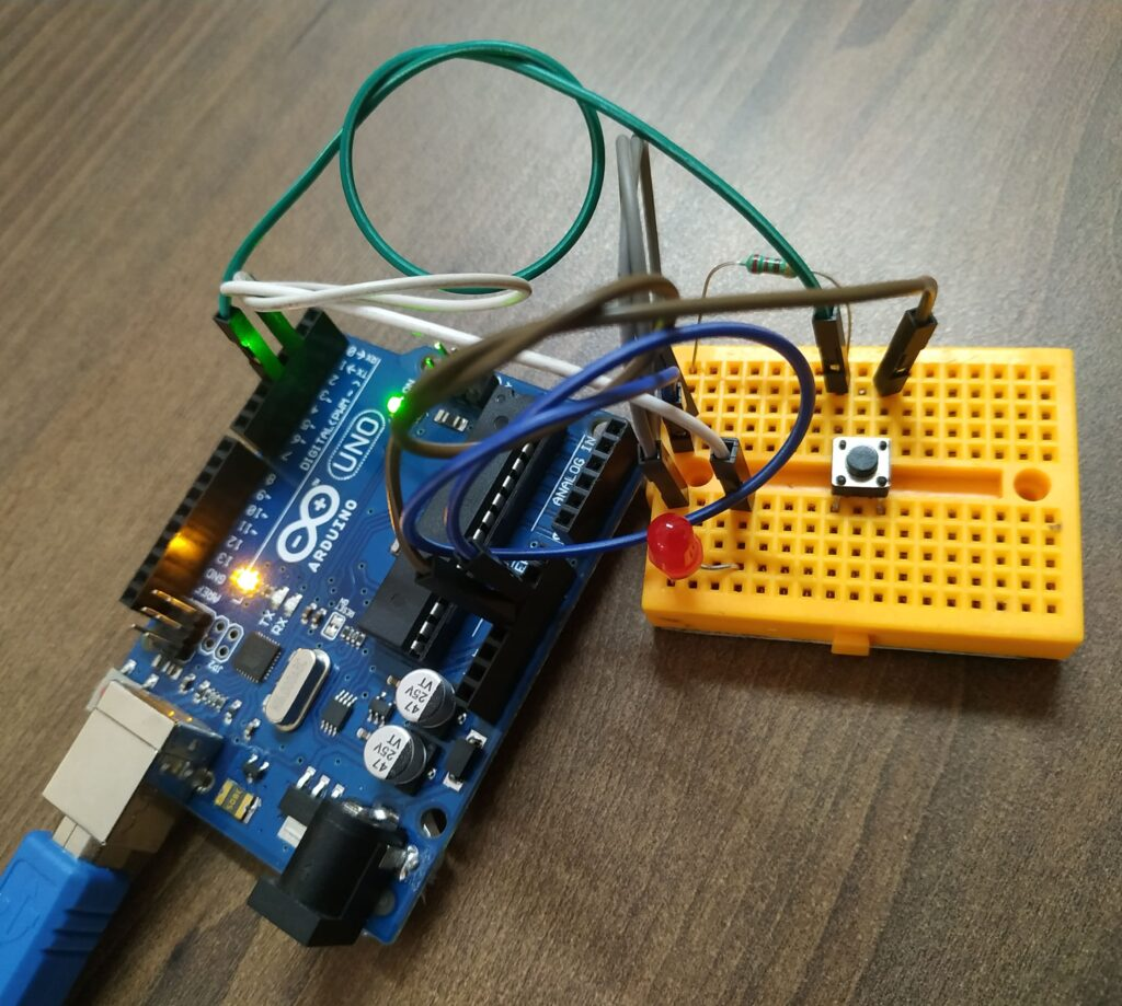 Push button with Arduino
