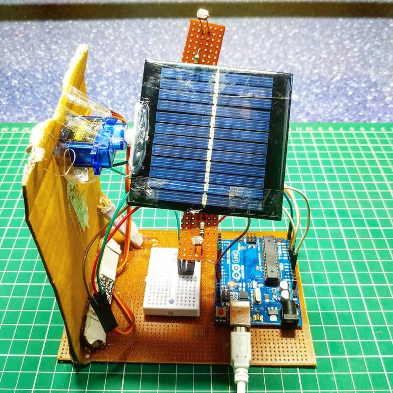 Single axis solar tracker project tutorial