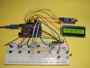 How to make Electronic voting machine  project (EVM) with Arduino