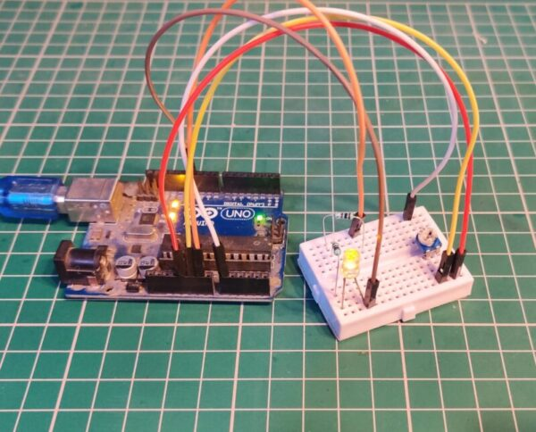 connect a potentiometer to the Arduino