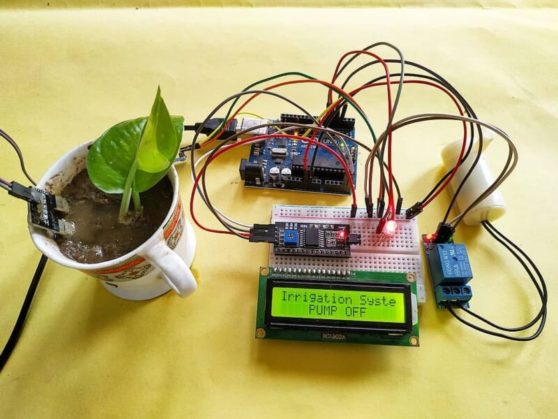 How to make smart irrigation project