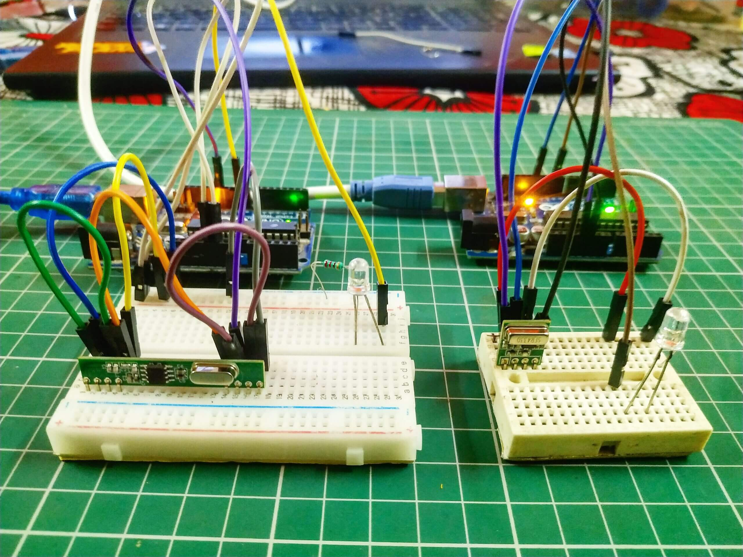 RF transmitter and Receiver with Arduino