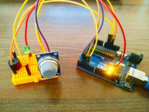 LPG gas sensor interface with Arduino (MQ6)