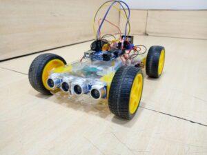 Obstacle avoiding robot using Arduino- Two sensor