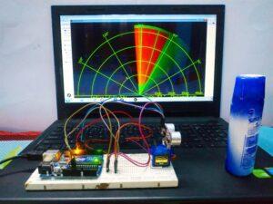 Radar using Arduino & Ultrasonic sensor