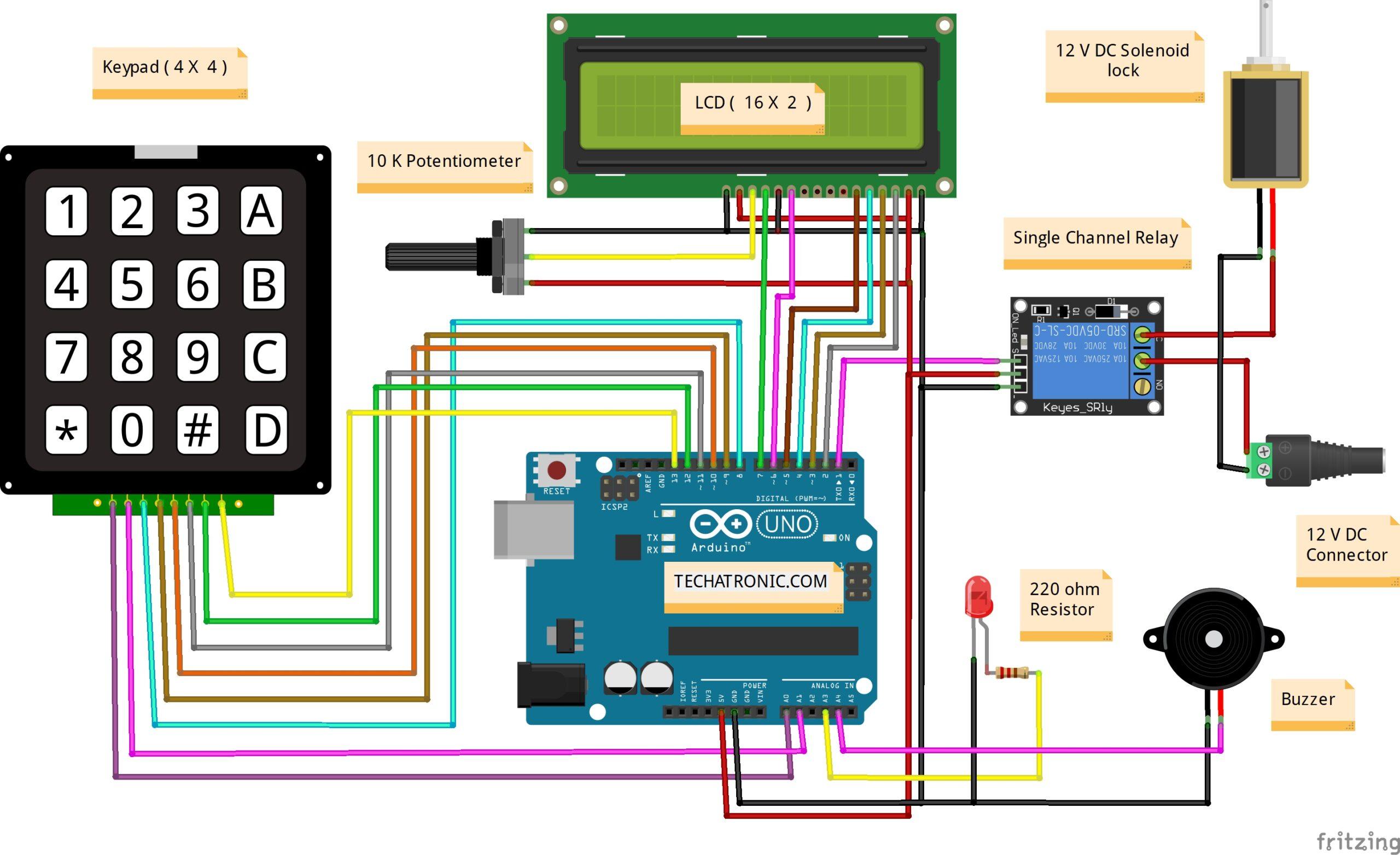 Password Based Door Lock System Using Arduino Arduino Project