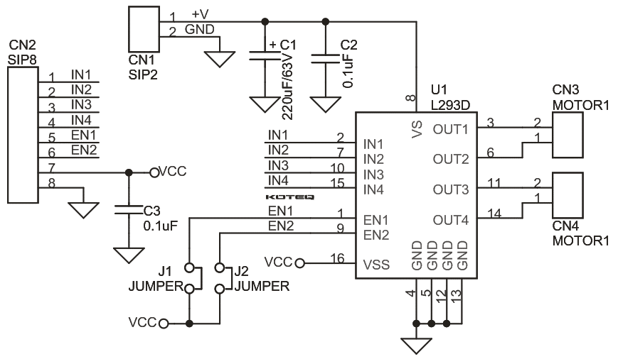the schematic diagram for L298n driver