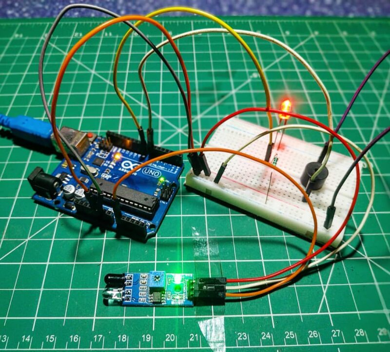 Obstacle Detector By IR Sensor with Arduino