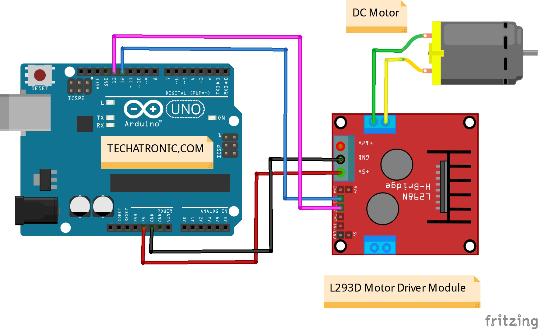 How to control dc motor with Arduino