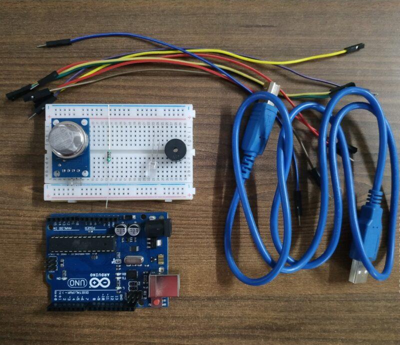 alcohol detector using arduino