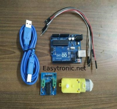 control dc motor with Arduino