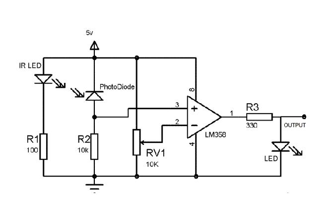 ir sensor arduino circuit