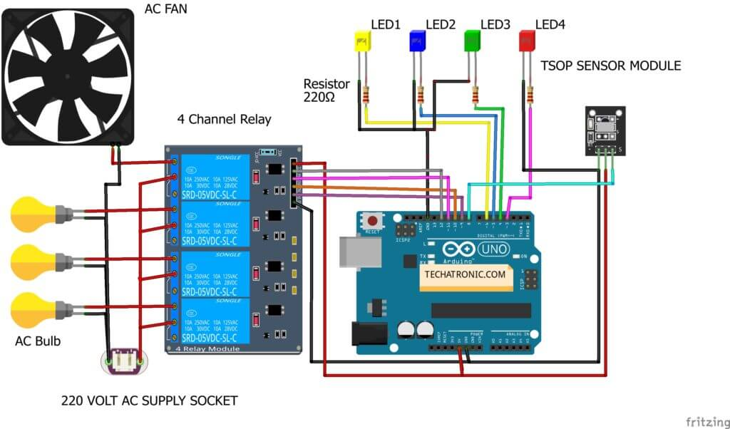 IR Sensor Arduino Circuit Diagram