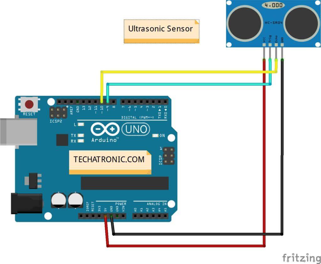 connect ultrasonic sensor to Arduino