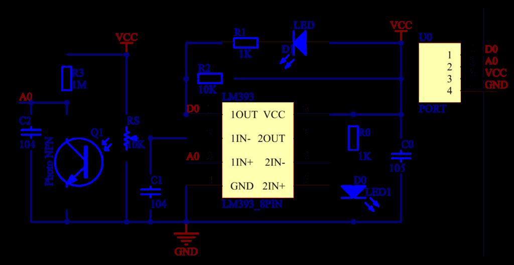 Arduino flame sensor schematic
