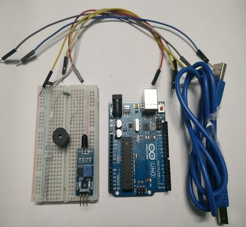 Flame Detector using Arduino