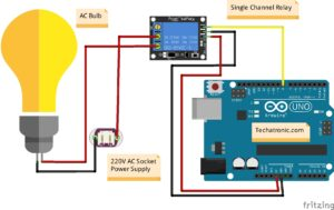 Relay Interface With Arduino Circuit Diagram
