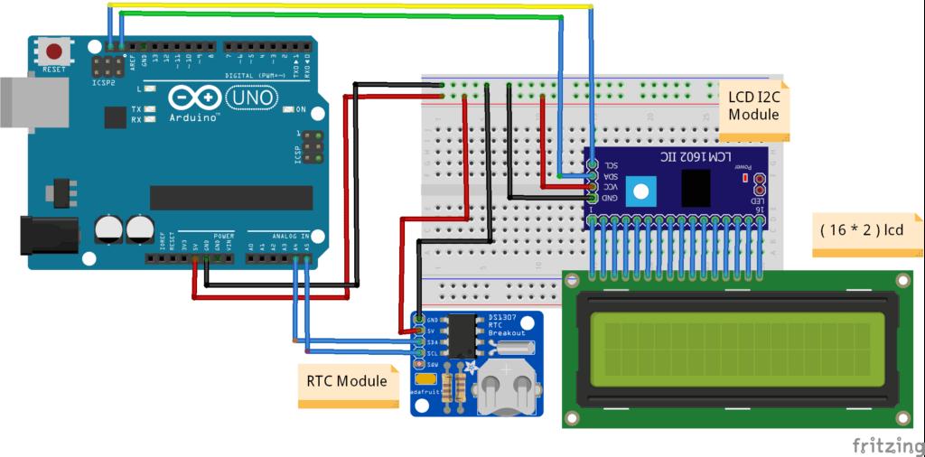Arduino Digital Clock Circuit Diagram