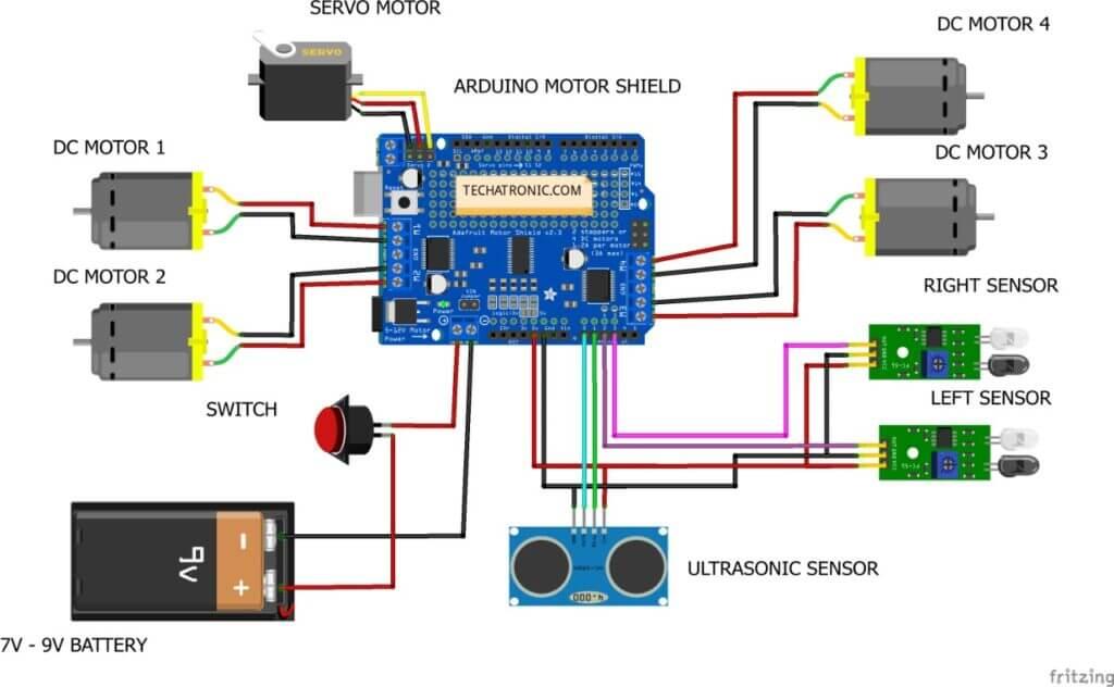 human following robot circuit diagram