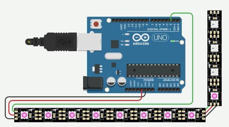 ws2811 arduino pixel Led Programming Tutorial