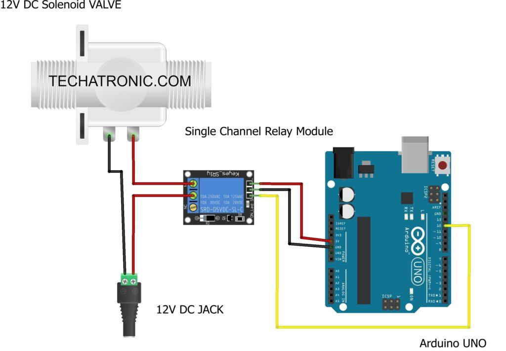 solenoid valve with arduino