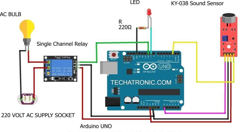 clap switch using arduino