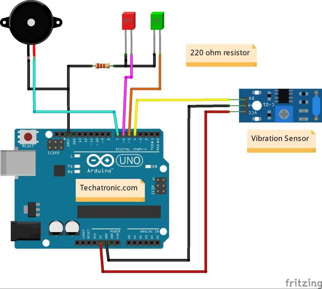 arduino vibration sensor