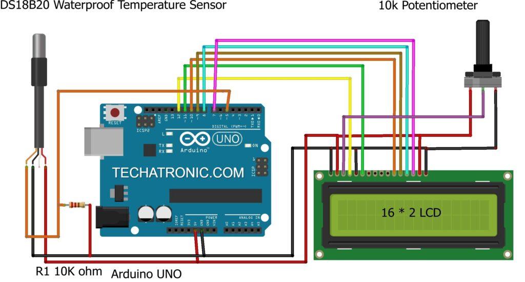 Temperature Monitoring System circuit