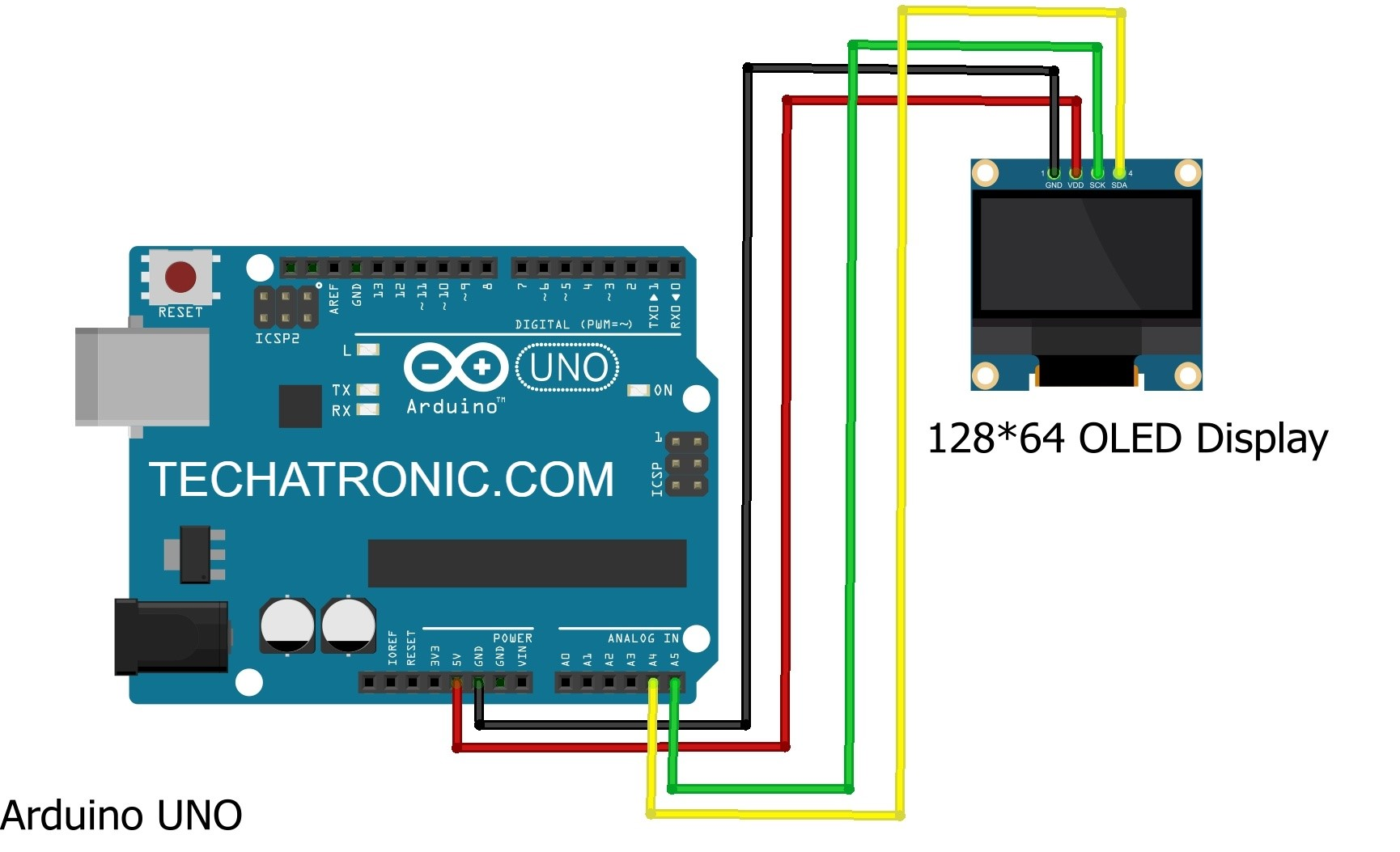oled display with arduino