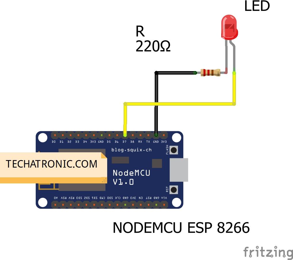 nodemcu webserver led