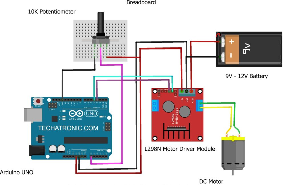 dc motor speed control circuit