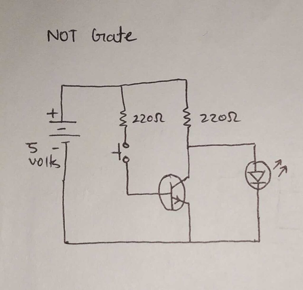 logic gates with transistors